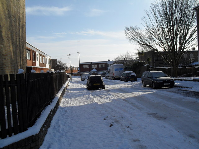 A snowy Burghclere Road