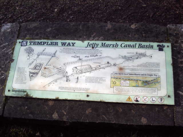 Jetty Marsh Basin sign on the Stover Canal