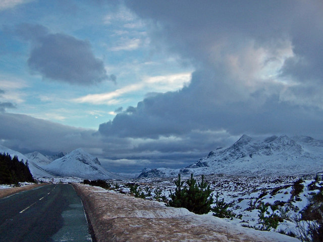 A87 in winter