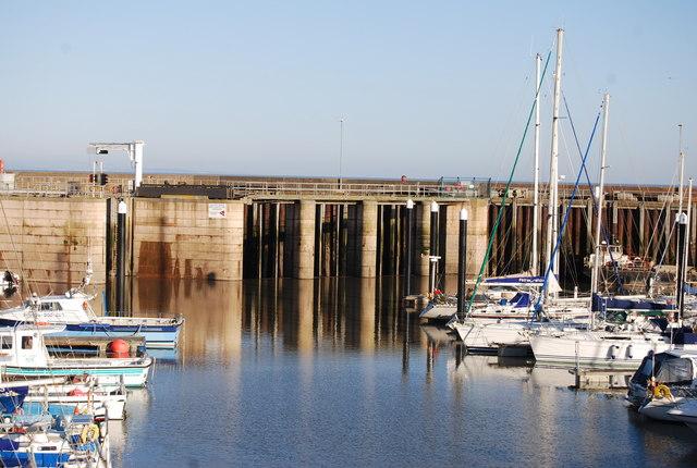 Lock gates to the Marina, Watchet