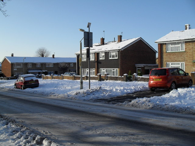 Snow covered homes in Prospect Way