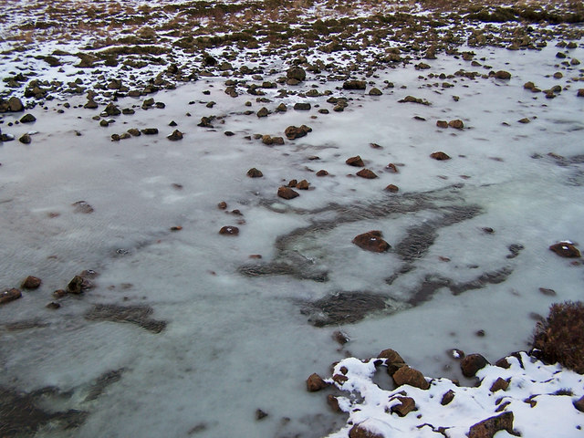 Anchor ice in the River Sligachan
