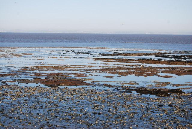 Low tide in front of Watchet Harbour