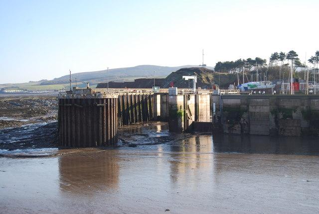 Locks at the entrance to Watchet Marina