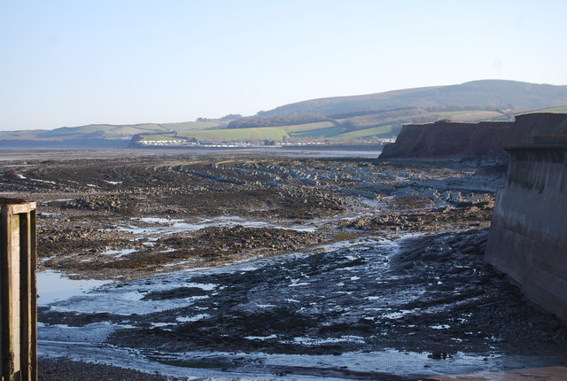 Geological structures outside Watchet Harbour