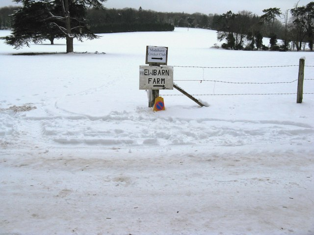 Signs for Newbarn Farm and Madehurst Cricket Club