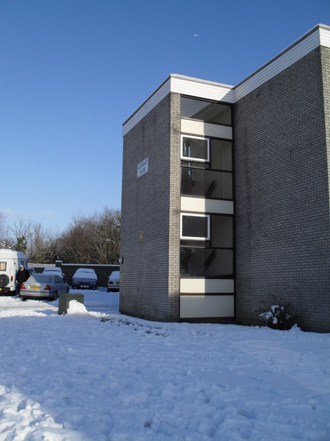 A snowy scene at Aldershot House