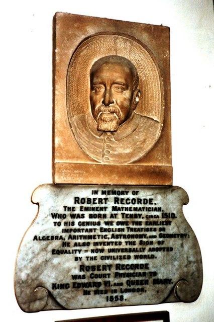 Memorial to Robert Recorde