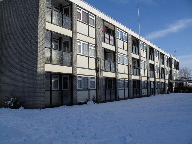 Aldershot House in the snow