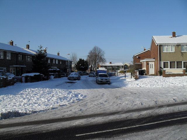 Looking from Prospect Lane into Nursling Crescent