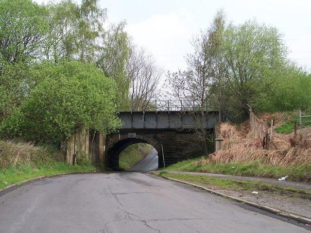 Narrow Bridge, Looking up Limestone Cottage Lane, Sheffield