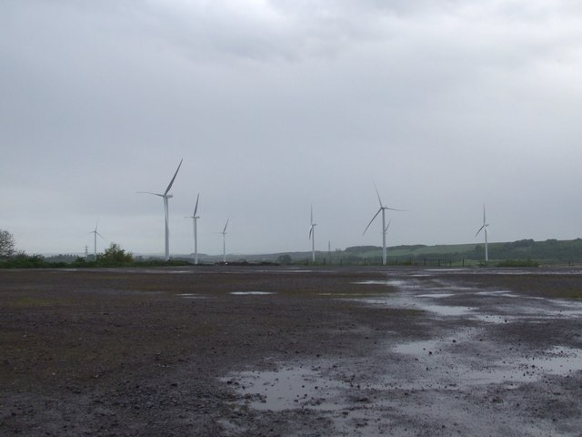 Towards Bagmoor Wind Farm from the Speedway Car Park