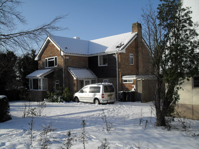A snowy vicarage in Martin Road