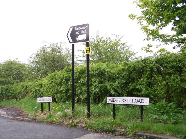 This way to Nutwood Industrial Estate, Birley Edge, Sheffield