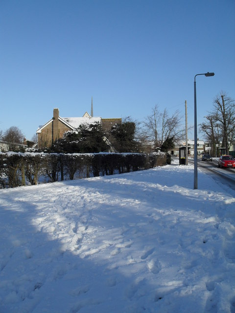 Looking from Martin Road towards St Albans