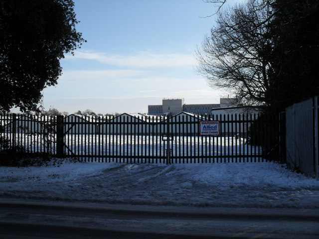 Factory gates in Martin Road