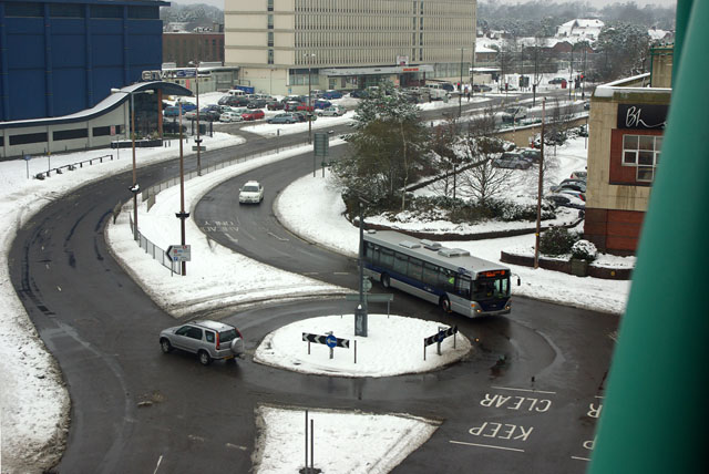 County Mall car park access roundabout