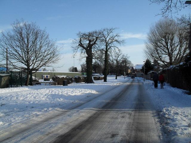 Treacherous conditions in Martin Road