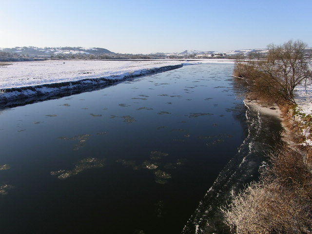 Small Ice Floes, Afon Tywi, from Dryslwyn Bridge
