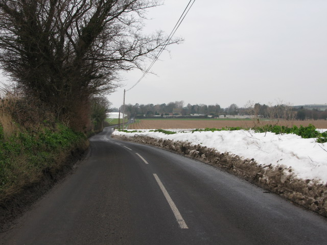 View W along Grinsell Hill towards Minster