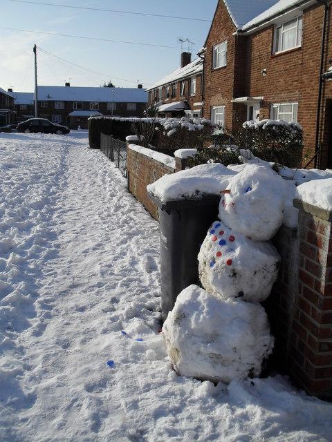 Snowman in Braishfield Road