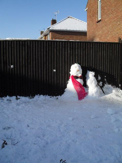 Snowman in Adhurst Road