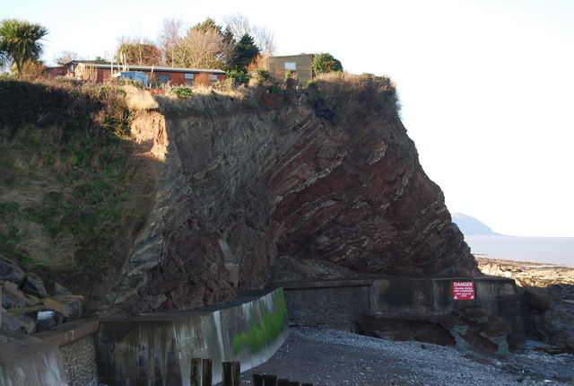 Cliff & Sea wall, Watchet