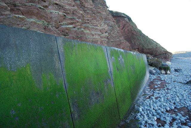 Sea wall, Watchet