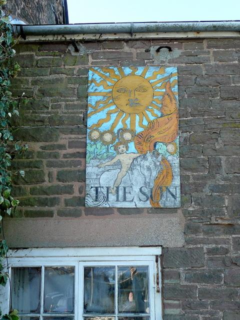 Old pub sign - The Sun, Garway Hill