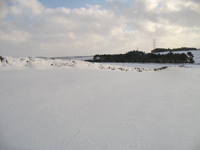 Snow covered dyke