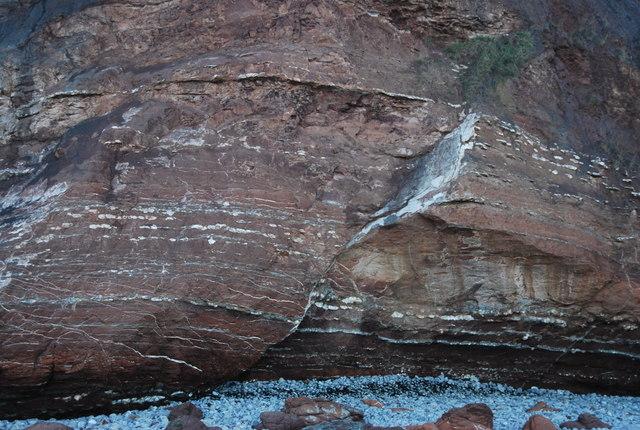Fault in the cliff, Warren Bay