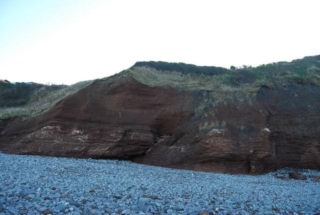Red cliffs, Warren Bay