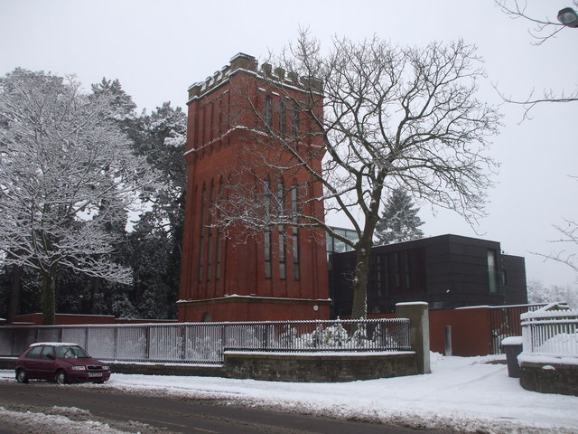Converted water tower, Cyncoed, Cardiff