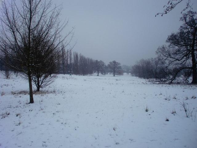 Oakwood Park, London N14 in the snow