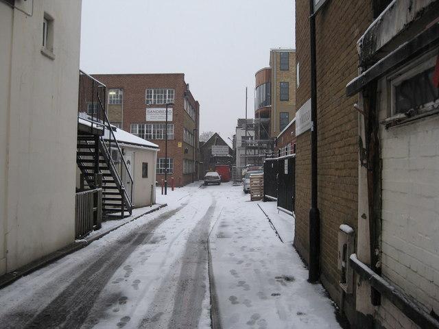 Carpenters Place, a cul-de-sac off Clapham High Street, south London