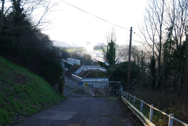 Entrance to the paper mill at Watchet