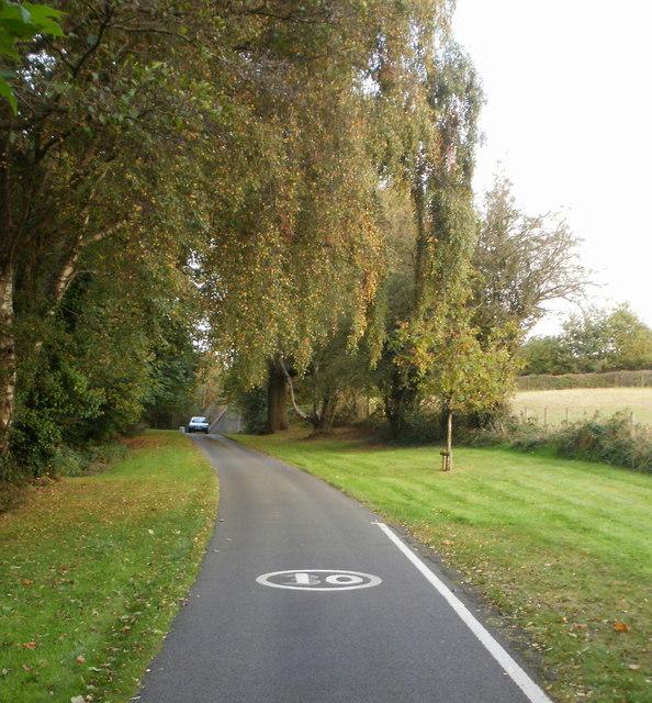 Llantarnam Abbey approach road