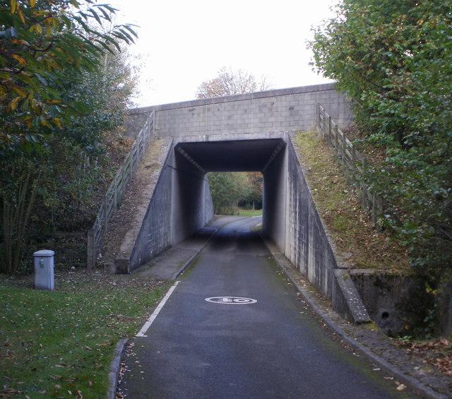 Bridge across approach road to Llantarnam Abbey