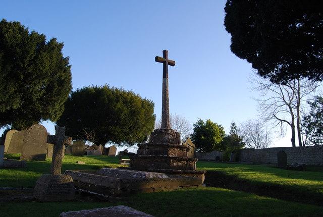Cross in St Decuman's Churchyard