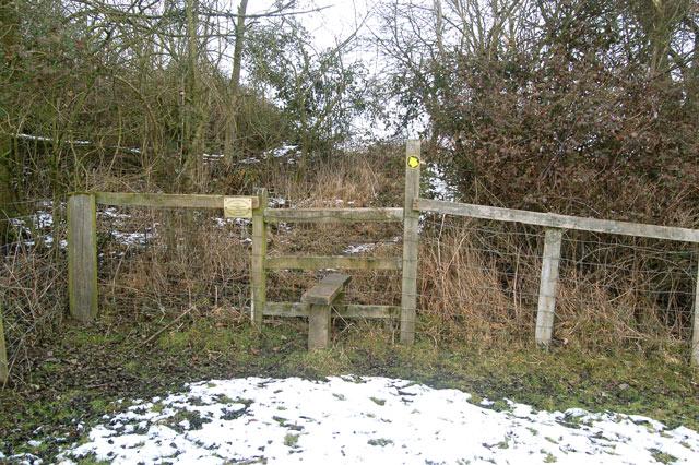 Stile on the footpath from Birdingbury to Frankton