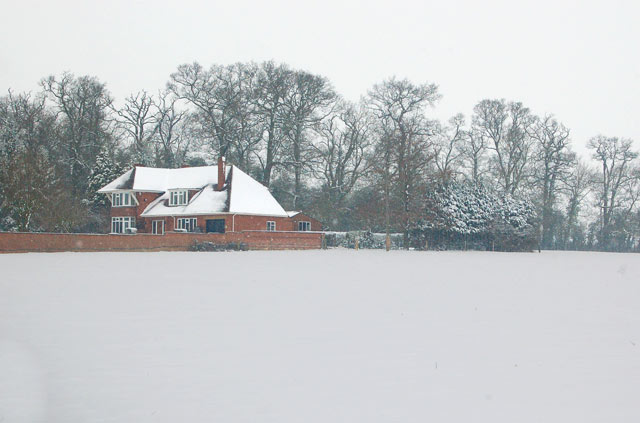 'Millbank' in the snow, Broadwell