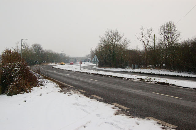 Looking southeast along the A45 near Dunchurch