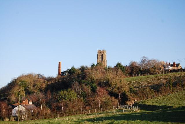 St Decuman's Church on the hill