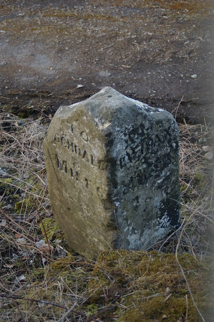 Milestone from Rochdale to Halifax Road