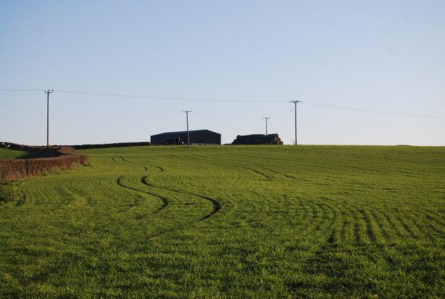 Barn on the horizon, Kentsford Farm