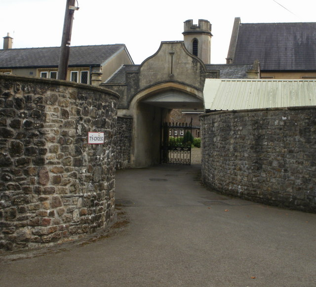 Visitors' entrance to Llantarnam Abbey