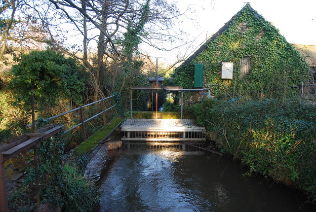 Sluice, mill race, Kentsford Farm