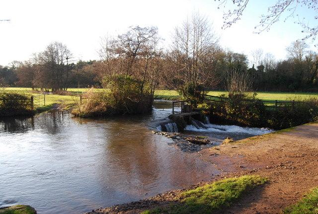 Weir, Washford River, Kentsford Farm