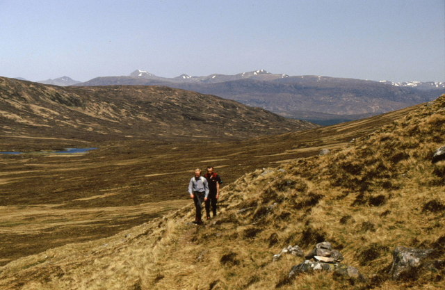 On the track to the bealach between Sròn a' Choire Ghairbh and Meall Dubh