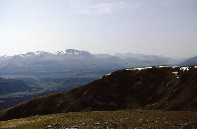 Summit of Meall na Teanga